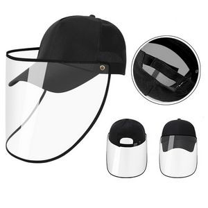 Adults Baseball Cap with Clear Face Mask