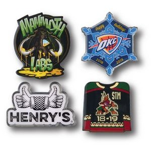 "Custom Lapel Pins - 1-1/4"" Overseas Photo Printed"