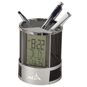 Howard Miller Desk Mate pencil cup and desk alarm clock