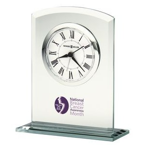 Howard Miller Medina Glass Curved Rectangle Clock