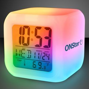 Imprinted Light Up Color Change LED Digital Alarm Clock