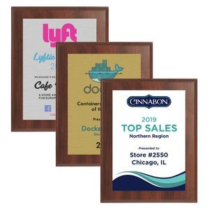 "7"" x 9"" Cherry Finish Plaque w/ Full Color Sublimated Imprint"